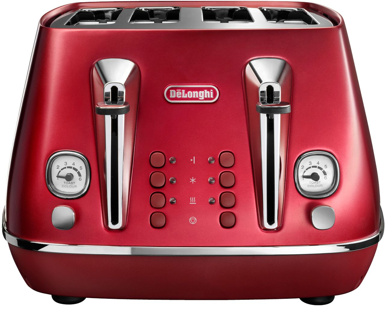 Delonghi - Distinta Flair 4 Slice Toaster - Red